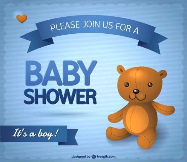 男の赤ちゃんのシャワーの招待状