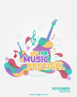 Музыкальный фестиваль вектор