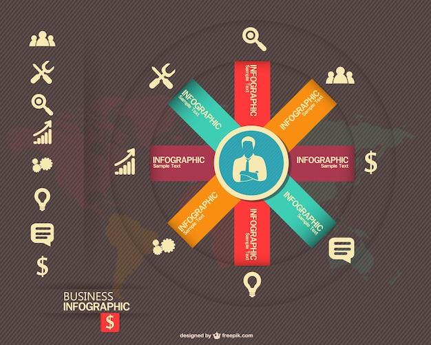 インフォグラフィック無料のベクトルビジネスコンセプト