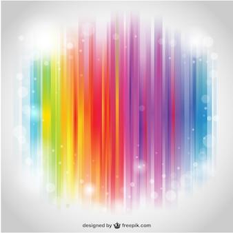 虹のストライプのデスクトップ