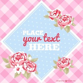 Вектор цветочный шаблон приглашения