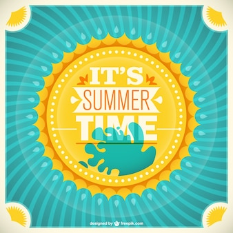 レトロな夏の日差しベクトル