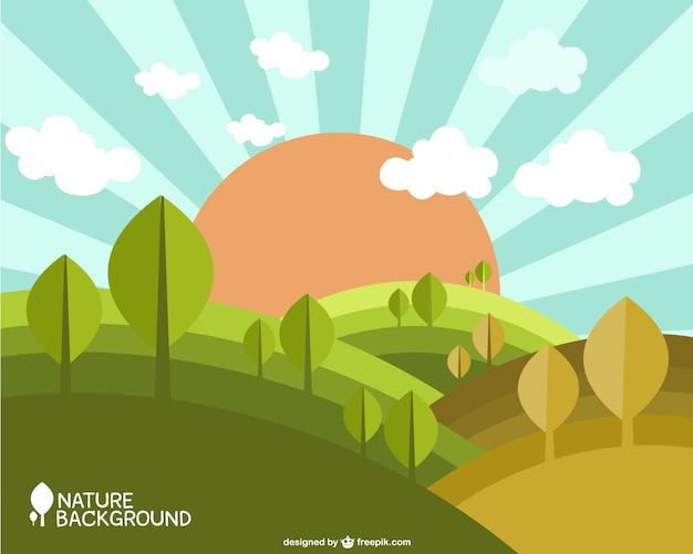 自然春の背景