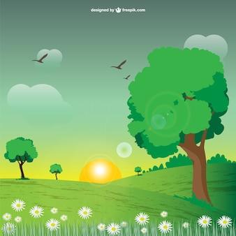 Вектор природные пейзажи изображение
