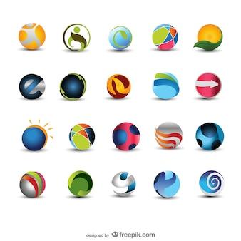美しく円形のアイコンベクトル