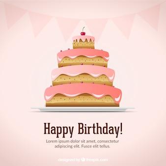 День рождения карты вектор материал