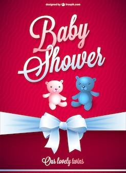 ベビーシャワーのベクトル無料のカード
