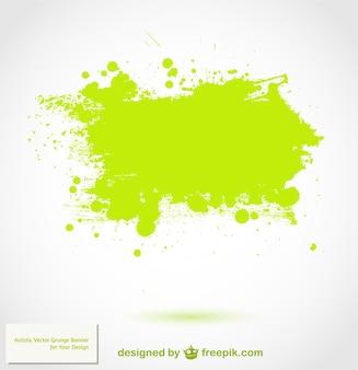 緑のスプラッターベクトルの背景