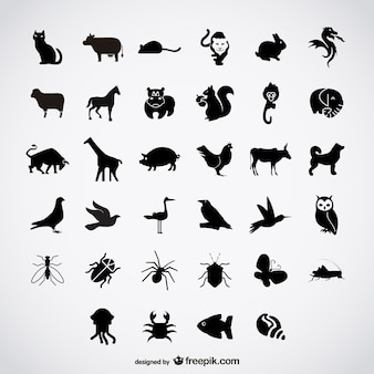 Простые силуэты птиц