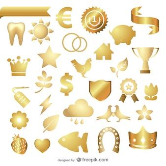 金属の質感の宝石アイコンベクトル