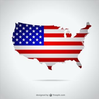 アメリカ·マップ·イラスト