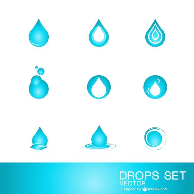 水滴ロゴテンプレート