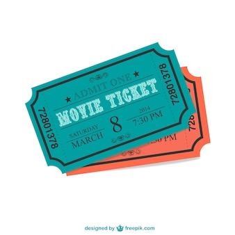 映画のチケットベクトル