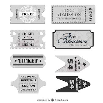 Бесплатные билеты вектор шаблон