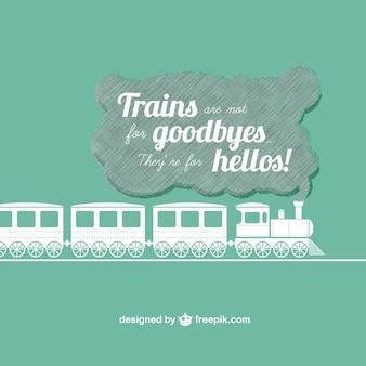 Плоским мотивационный дизайн поезд
