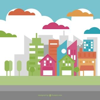 Зеленый город вектор дизайн
