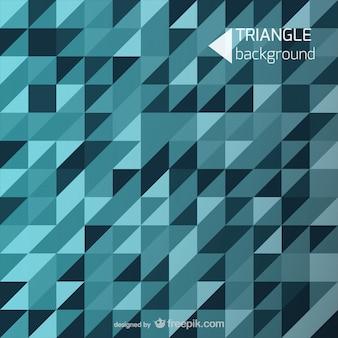 青い背景の三角形の形