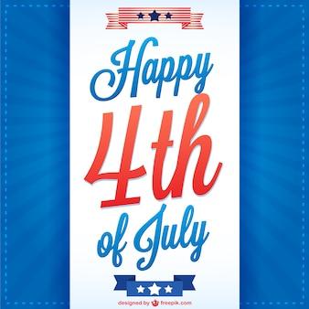 独立記念日のポスターデザイン
