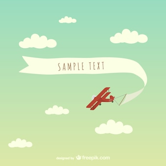 無料の飛行機のバナーベクトルアート