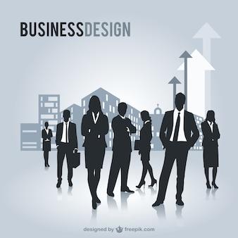 ビジネスの人々は、自由なグラフィックをシルエット