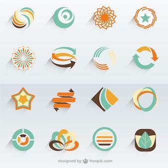 抽象的なベクトルのロゴテンプレート