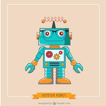 Битник робот вектор бесплатно иллюстрации