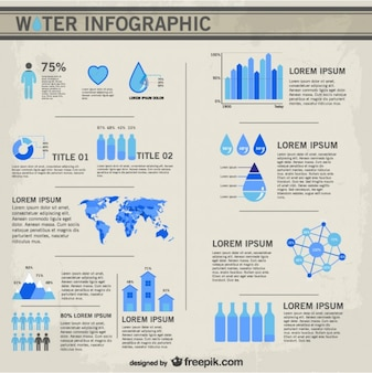 Векторный вода инфографики