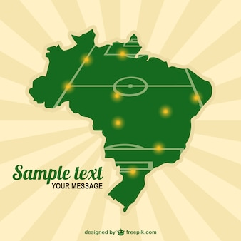 Бразилия шаблон карты футбольное поле