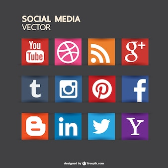 Кнопки социальных медиа бесплатно для скачивания