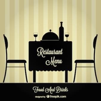レストランのメニューの無料イラスト