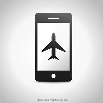 Смартфон самолет значок свободного графика