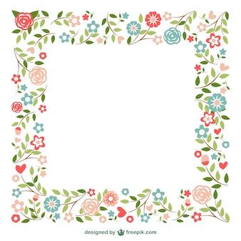 装飾用のフレームの花のデザイン