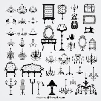 ヨーロッパの家庭のベクトル素材