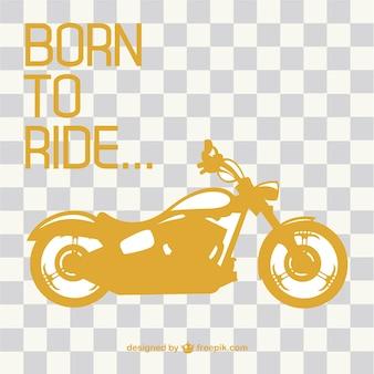 レトロなバイク乗りのベクトル