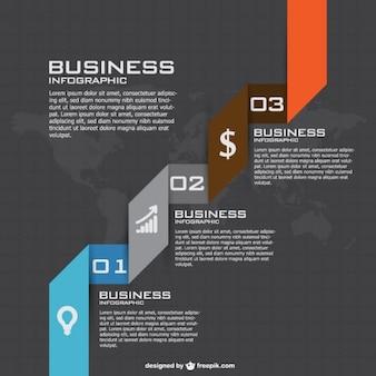 事業戦略の無料インフォグラフィックテンプレート