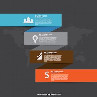 無料のビジネスプランのインフォグラフィック