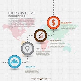 グローバルなビジネスベクトルインフォグラフィック