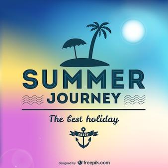 夏の旅トロピカルなデザイン