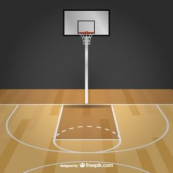 バスケットボール自由ベクトルコート