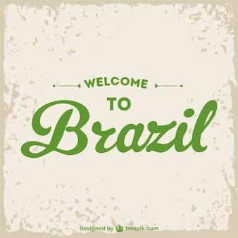 Добро пожаловать в бразилию гранж вектор