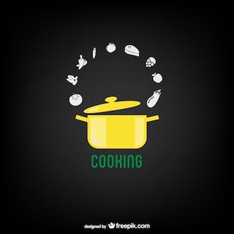 自由な調理鍋ベクトル