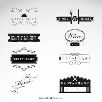 Коллекция ресторан вектор бесплатно
