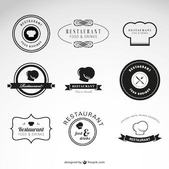 レストランの食べ物や飲み物ベクトルのロゴ