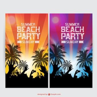 Летом партия векторный набор