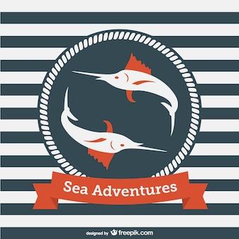 海の冒険ベクトルテンプレート