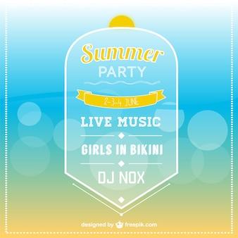 Шаблон летом приглашение партия