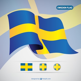 Вектор флаг швеции