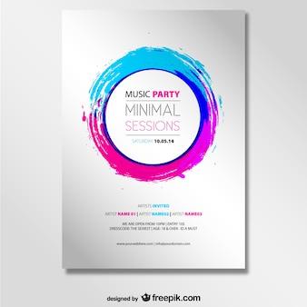 音楽パーティーベクトルモックアップポスター