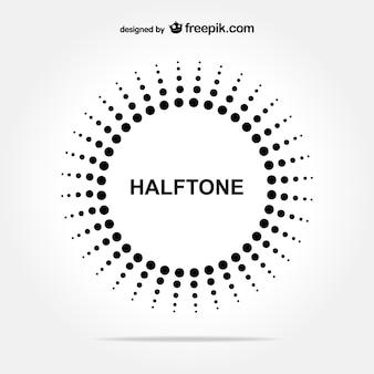 ハーフトーンサークルの無料の背景