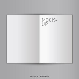 モックアップ、空白、開いているブックの無料